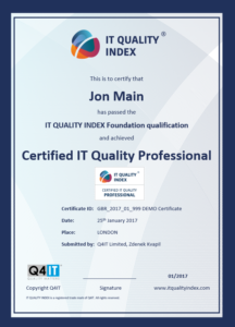 Certified IT Quality Professional